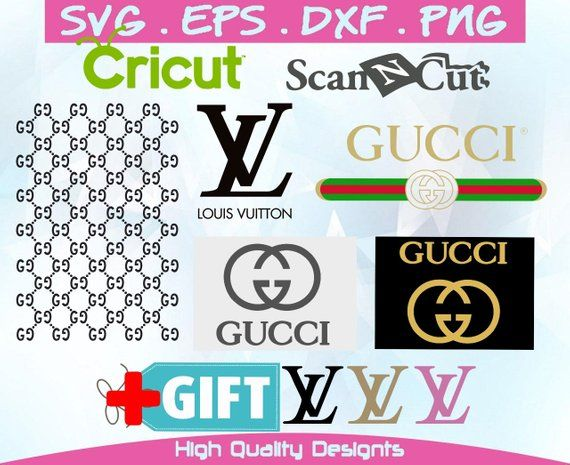Inspired By Gucci 5 Logos Gift Digital Prints Vector Files Digital Files For Cricut Silhoutte Logo Gifts Printed Items Digital Prints
