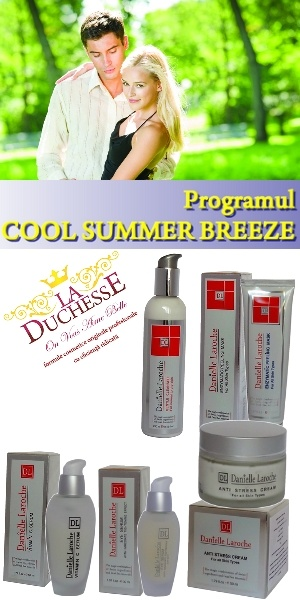 Cel mai cerut program de ingrijire a tenului pe perioada verii - COOL SUMMER BREEZE: http://laduchesse.shopmania.biz/cumpara/programul-cool-summer-breeze-pentru-protectia-tenului-de-peste-vara-3738395