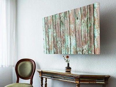 Screencover Flatsreen Abdeckung Design Altes Holz #TV Cover #Fernseher #planken