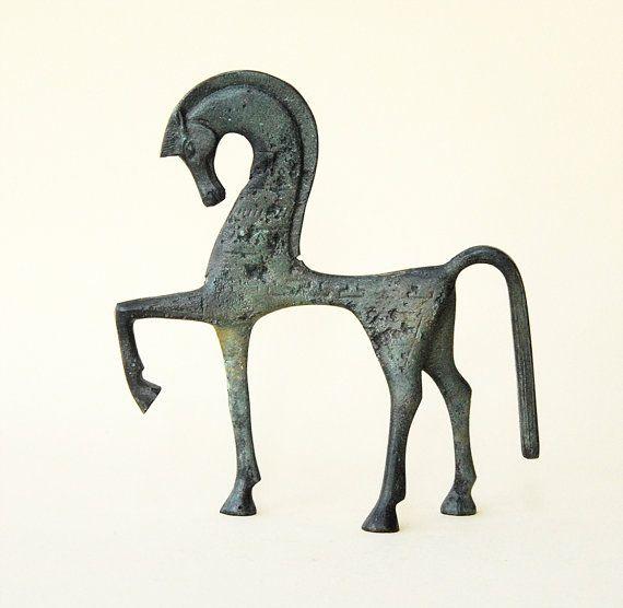 Bronze Horse  Ancient Greek by GreekMythos on Etsy, $75.00