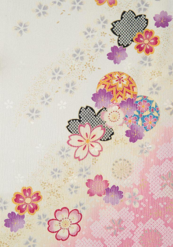 着物 No:780 商品名:白 絞り桜