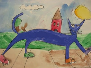 Pete the cat Art Projects
