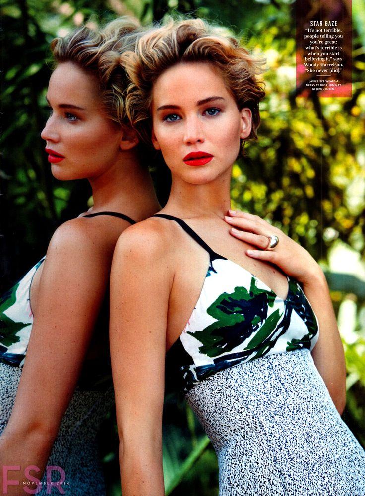 Both Huntress and Prey | Vanity Fair US November 2014 | Jennifer Lawrence by Patrick Demachelier #fashioneditorials