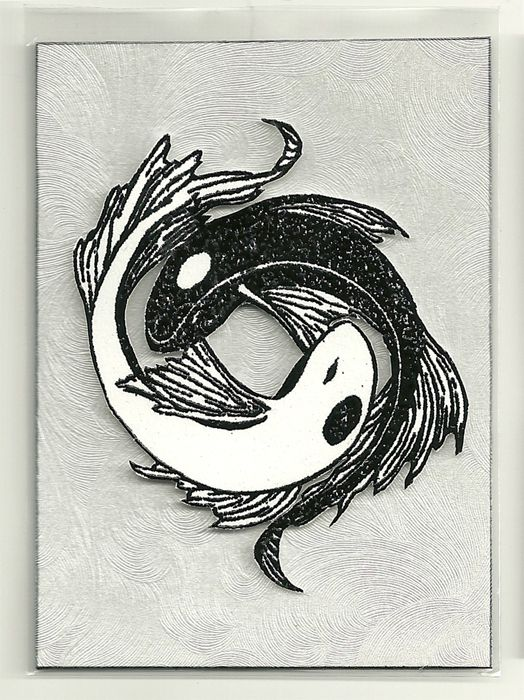 Koi fish ying yang lino print lino ideas pinterest for Koi fish paintings prints
