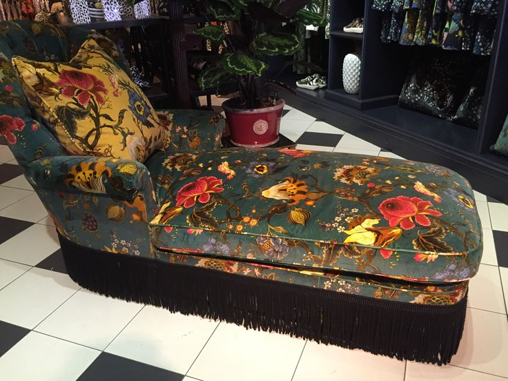 Chaise longue in House of Hackney Artemis Petrol