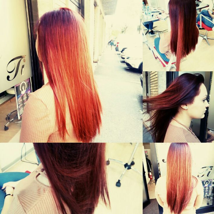 Red hair tow  colors I like  it