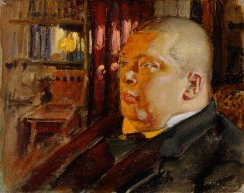 Akseli Gallen-Kallela, Portrait of Eric O.W. Ehrström, 1919, Oil on canvas, 24 x 31 cm, Finnish National Gallery, Helsinki