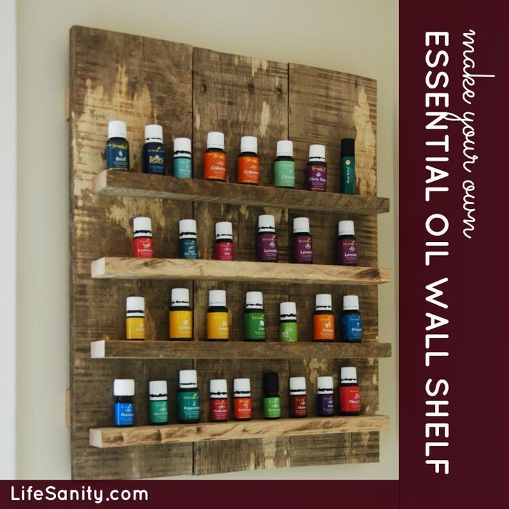 The Essential oil wall rack that my hubby made for me :) | wood ...