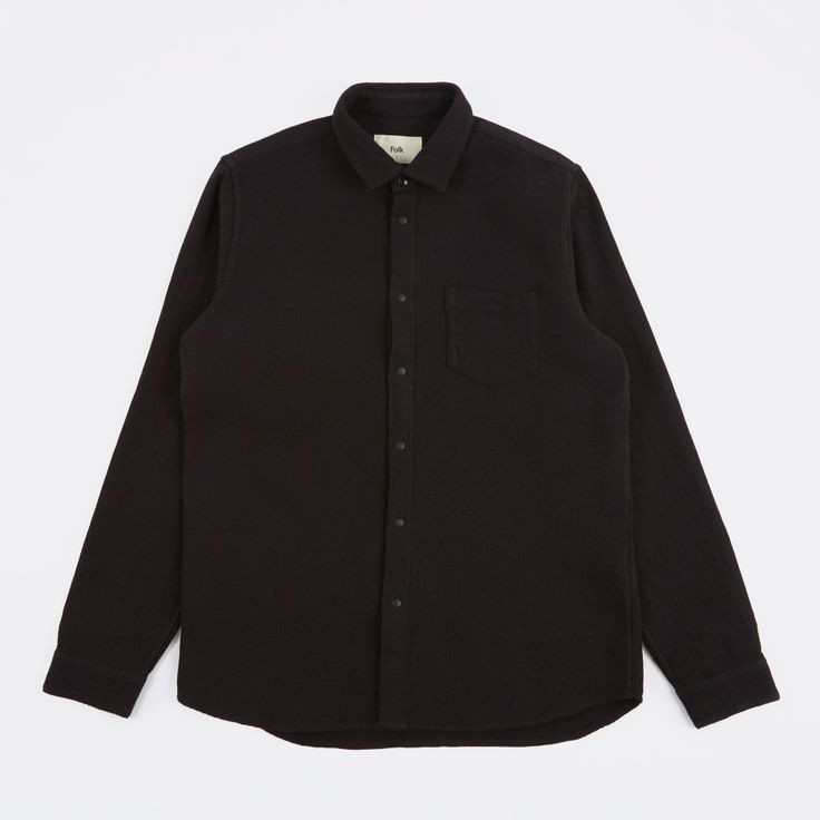 Folk Waffle Shirt - Black Waffle (Image 1)