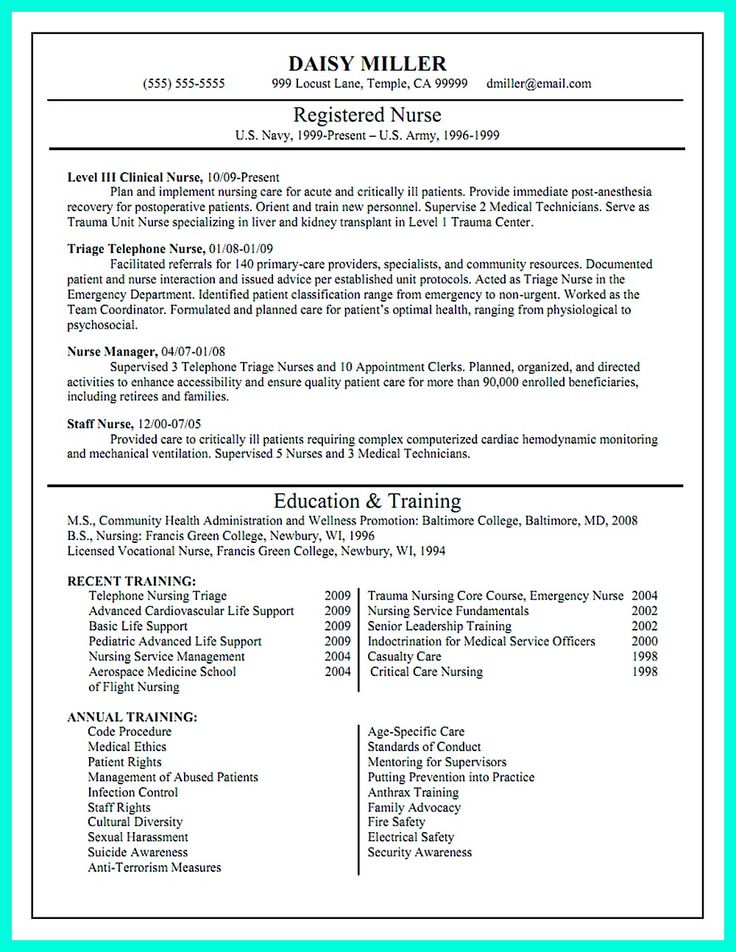 Critical care nurse resume has skills or objectives that are ...