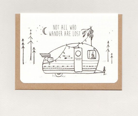 NoT aLL WHo WaNDeR aRe LoST . mini print . art by ThePaisleyFive