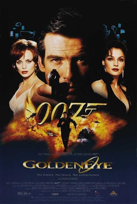 Goldeneye Movie Poster 27 X 40 Pierce Brosnan D Licensed U S A