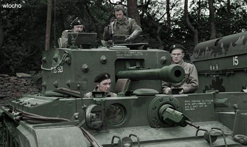 Gen S. Maczek in his Cromwell tank