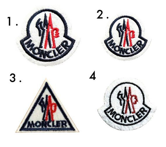 d59254f3a Embroidered iron on patches / Sew moncler art patch on Tee Bag Down ...
