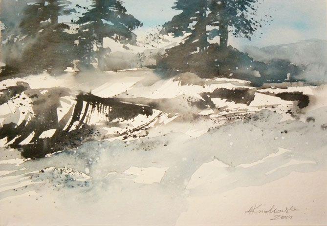 Agata Kwiatkowska, watercolour, 32x24 cm