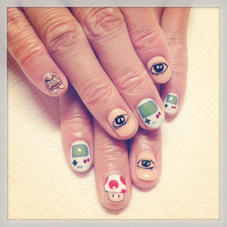 Chocolate Nails Art Game Online Nail Games: 51 Best Nintendo Nail Art Images On Pinterest