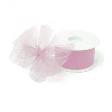 Tule roze is geschikt voor het maken van mooie strikken.