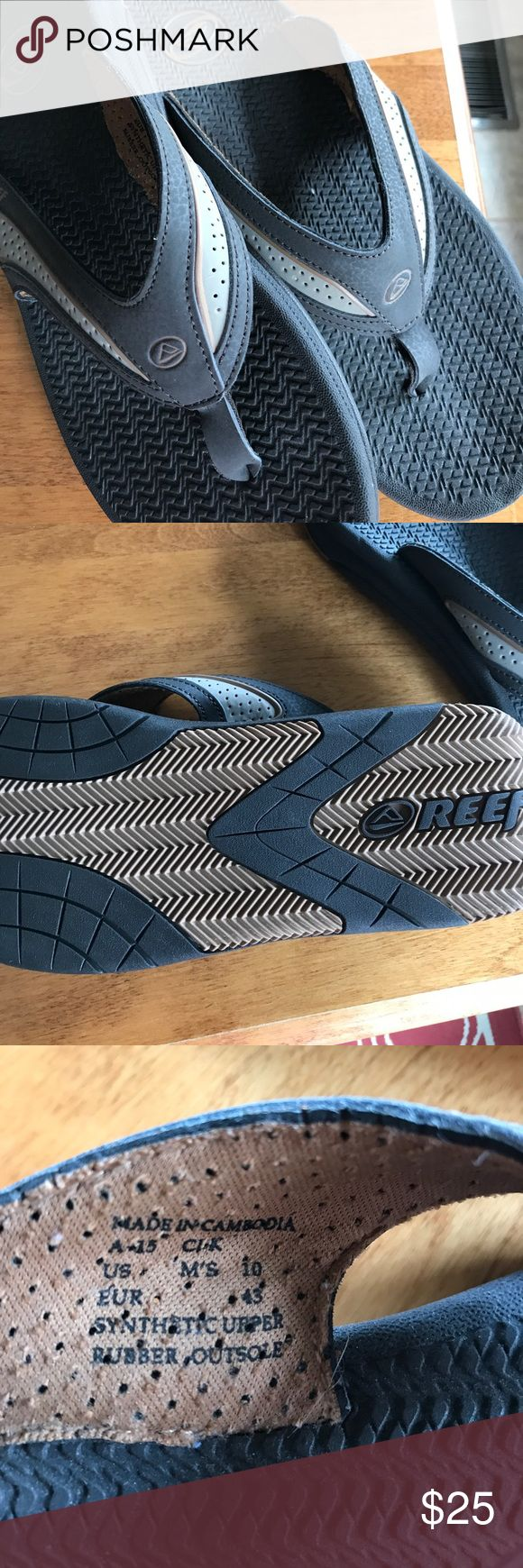 Reefs.  Never worn Brown reefs flip flops for men. Bought in Hawaii Shoes Sandals & Flip-Flops