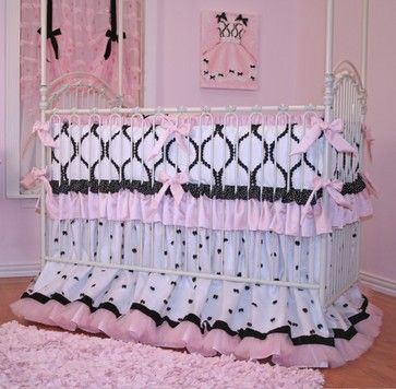 Chanel Crib Bedding for Girls eclectic-baby-bedding