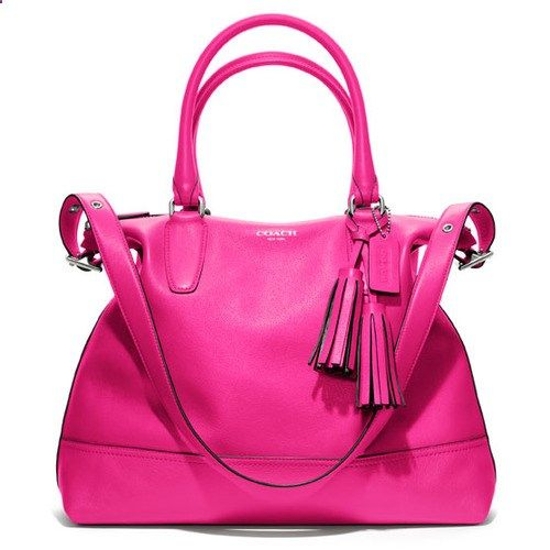 Fuchsia coach handbag | Keep the Glamour | BeStayBeautiful