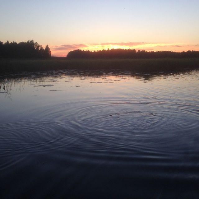 Pehkijärven iltamaisema syyskuussa