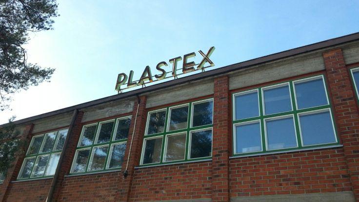 Plastexinv vanhaa tehdasta. Old factory of Plastex in Lohja Finland.