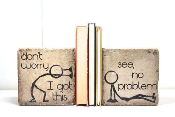 Hey, I found this really awesome Etsy listing at https://www.etsy.com/ca/listing/117738803/bookends-ready-to-ship-dont-worry-i-got