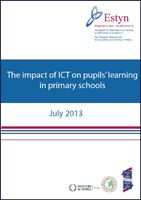The impact of ICT on pupils' learning in primary schools - July 2013 - The report evaluates standards in the National Curriculum subject of 'information and communication technology' (ICT) and considers the impact of ICT as a key skill on pupils' learning across the curriculum in primary schools in Wales.