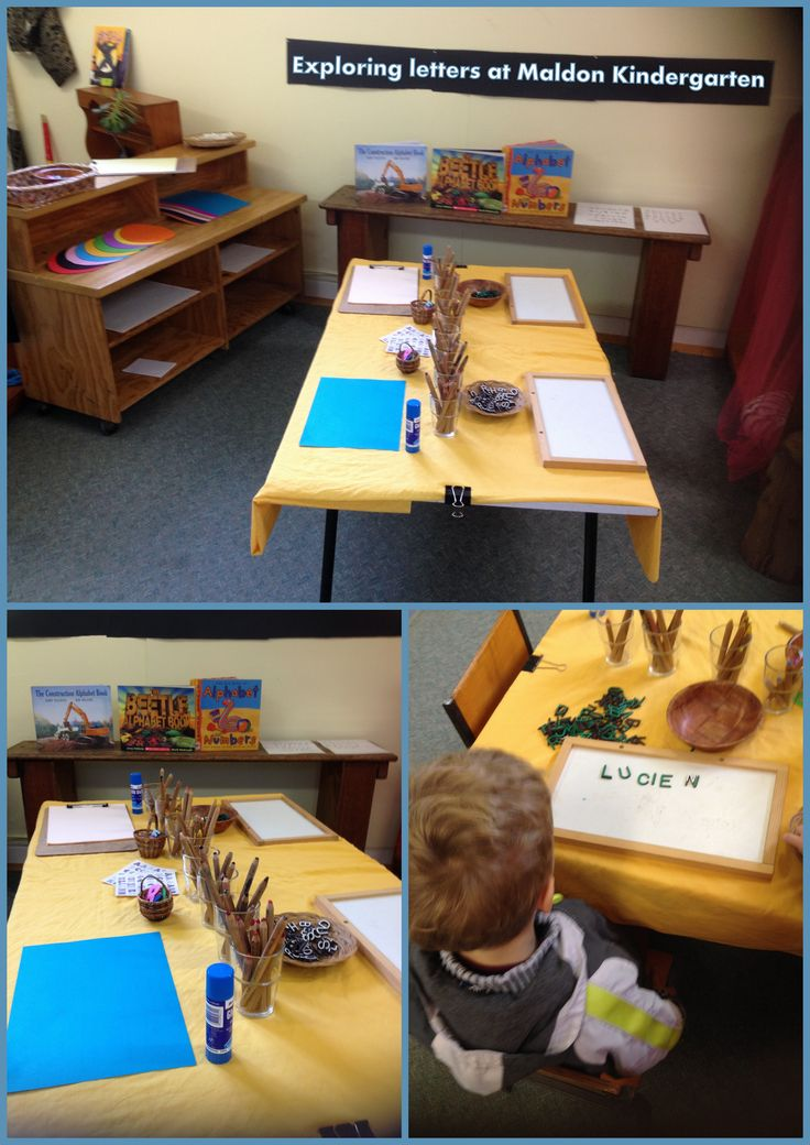 Exploring letters and (pre)-writing