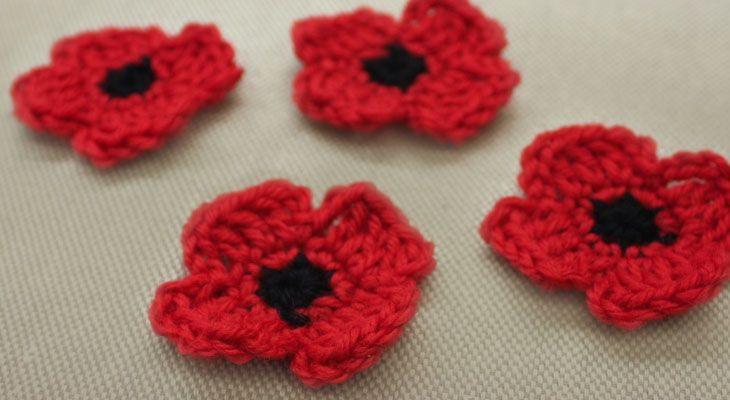 Crochet Patterns For Veterans : 15 Must-see Crochet Poppy Pins Free crochet flower ...