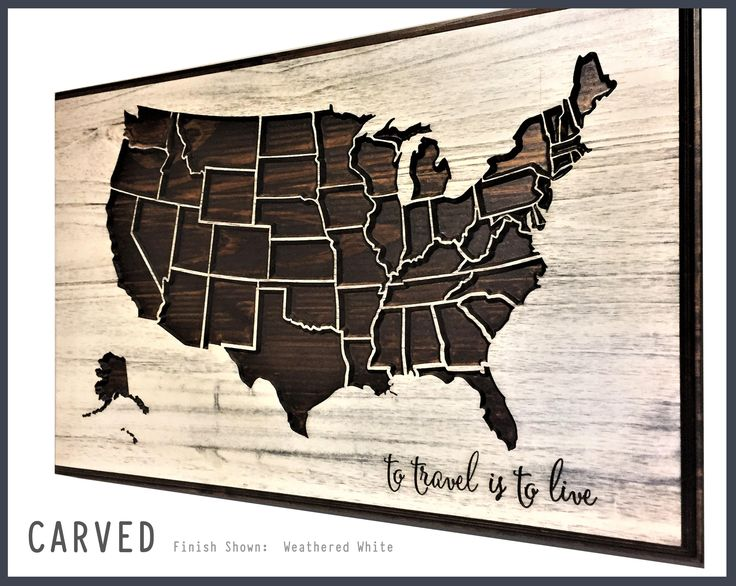 Wood Wall Decor, US Map Wall Art, Wooden Map, To Travel is To Live, Quote Sign, Personalized, rustic, Vintage, Push Pin Map, gift idea by HowdyOwl on Etsy