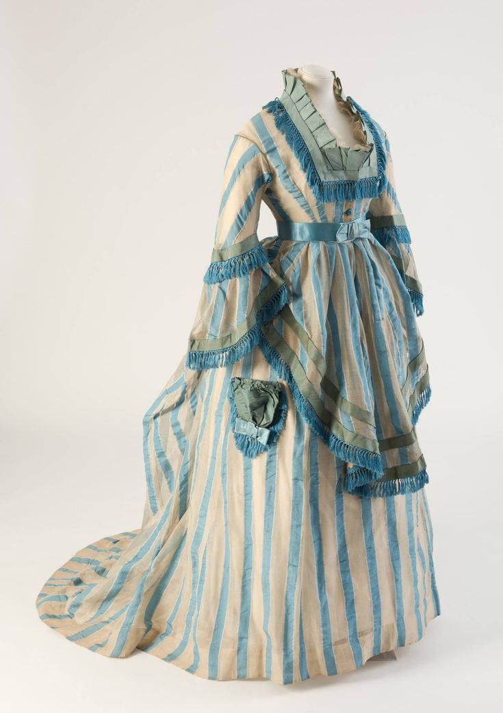Dress, 1874 From the Fashion Museum, Bath on Facebook