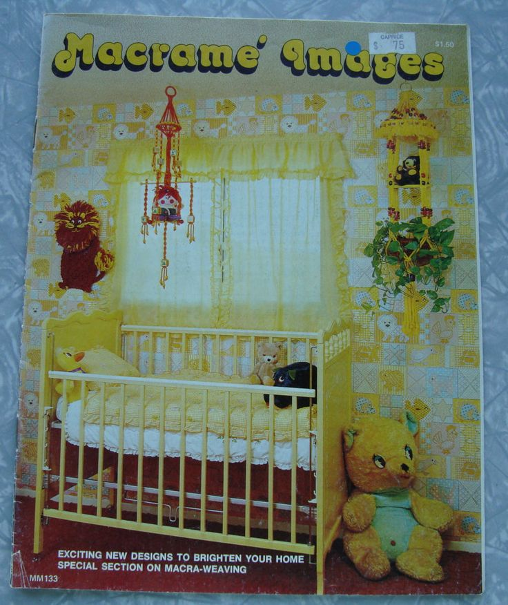 Macrame Images Pattern Book/Macrame,Lion,Teddy Bear Treehouse,Plant hangers,Hammock,Baby mobile,Wall hangings/Baby's Room/Home Decor by RedWickerBasket on Etsy