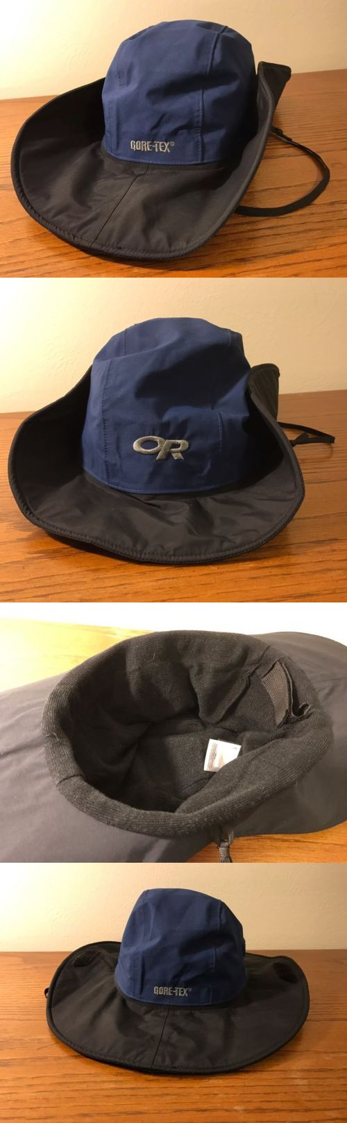Hats and Headwear 159094: Or Outdoor Research Gore-Tex Seattle Sombrero Waterproof Hat - Xl - Navy/Black BUY IT NOW ONLY: $34.99