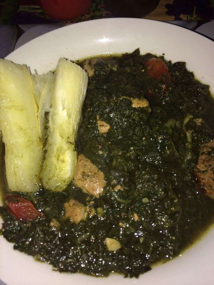 Traditional Fijian Dish, that's known as Rourou. It is taro leaves cooked with coconut milk or without. This dish is cooked by hubby, there's no coconut milk with diced pork ribs.