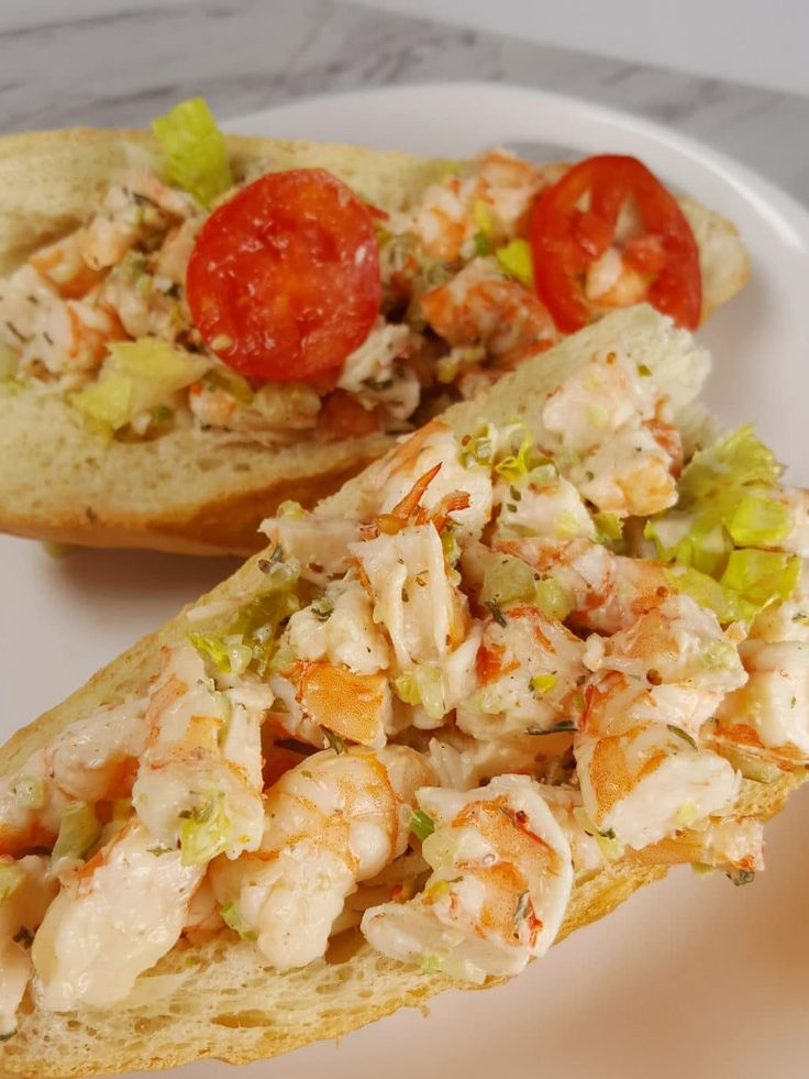 Pressure Cooker Shrimp Po Boy Roll. Instant pot. This Old Gal.
