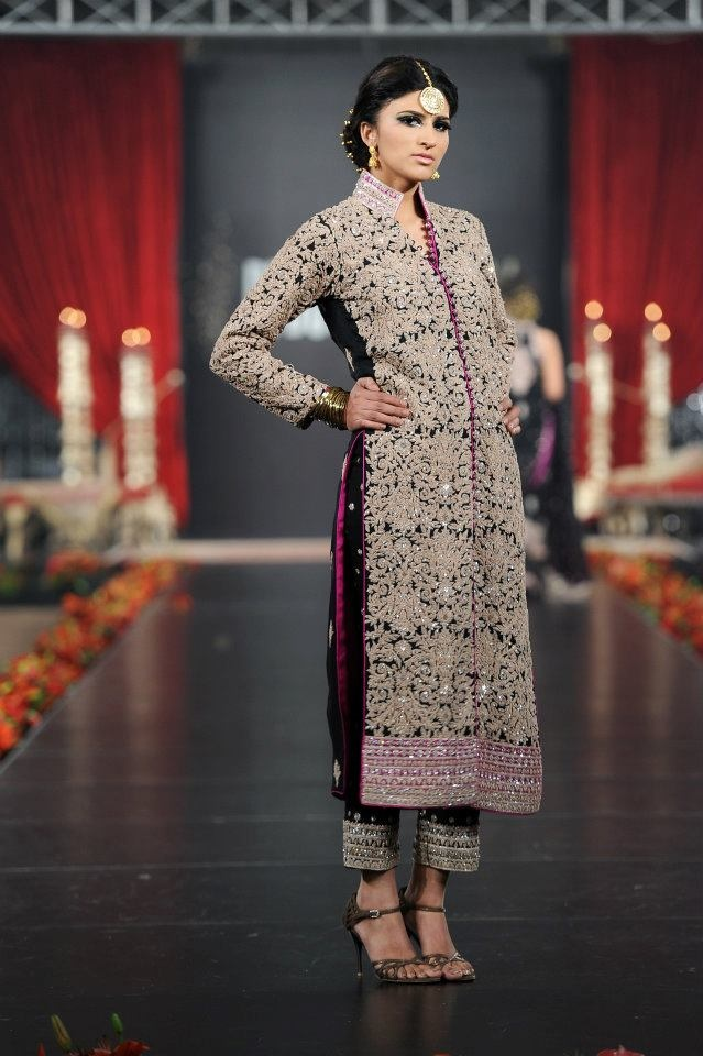 Umar Sayeed heavily embroidered ladies sherwani