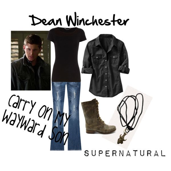 """Dean Winchester Cosplay #1"" by theladyinblack on Polyvore"