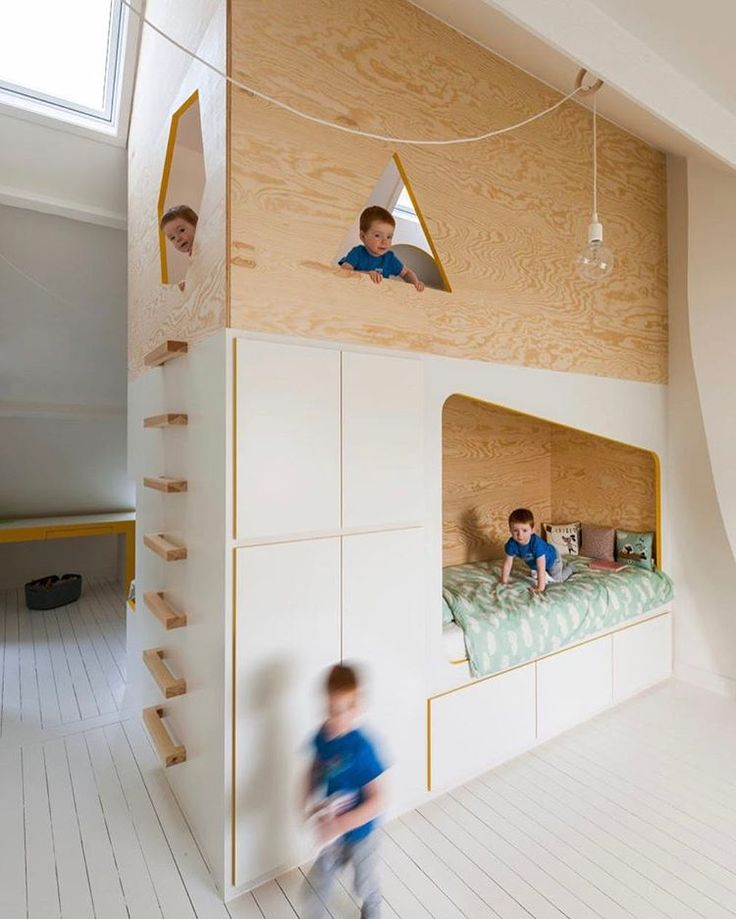 This #kidsroom designed by @johanvanstaeyen will have you wishing you were a kid again. \\\ See more on designmilk.com!