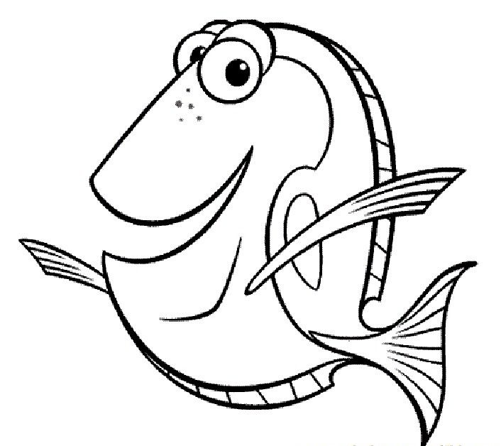 dory finding nemo coloring pages - Finding Nemo Coloring Pages Bruce