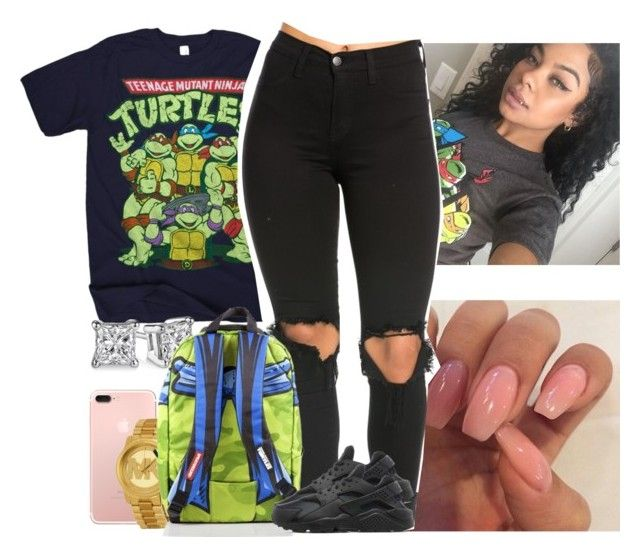 """LEONARDO IS MI BAE"" by melaninmonroee ❤ liked on Polyvore featuring Michael Kors and NIKE"