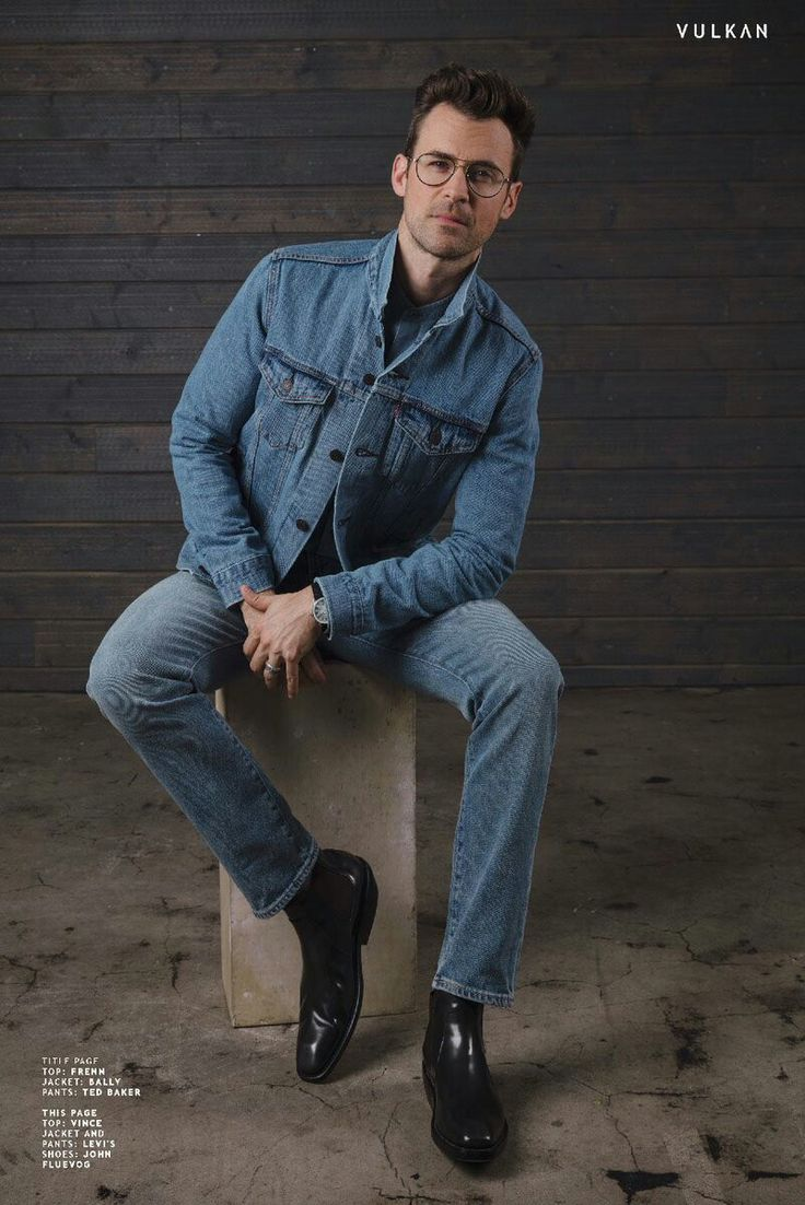 """""""It just felt right to wear a Canadian tuxedo for my @VulkanMagazine photoshoot! 🇨🇦 Thank you for having me in this issue ❤️💋 @LEVIS"""" ~ Brad Goreski, July 2017   via @mrbradgoreski on Twitter"""