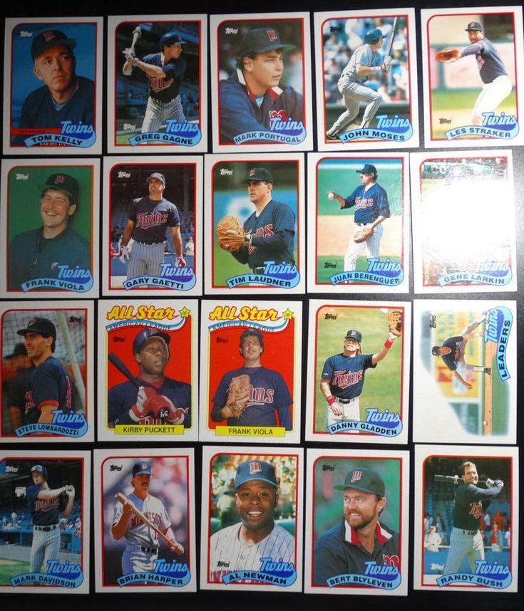 1989 Topps Minnesota Twins Team Set of 28 Baseball Cards #Fleer #MinnesotaTwins