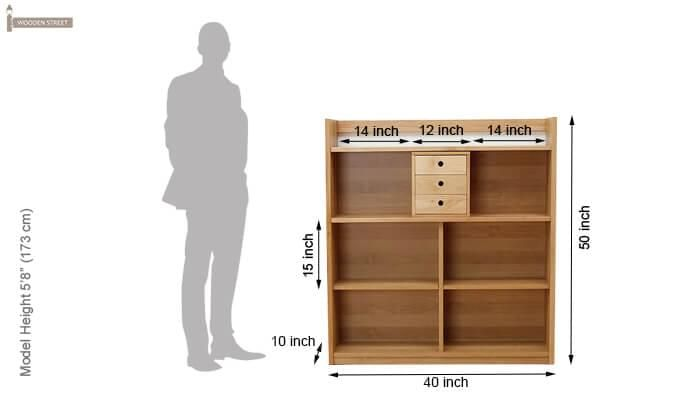 Frodo Study Table Cum Shelf (Natural Finish)-9