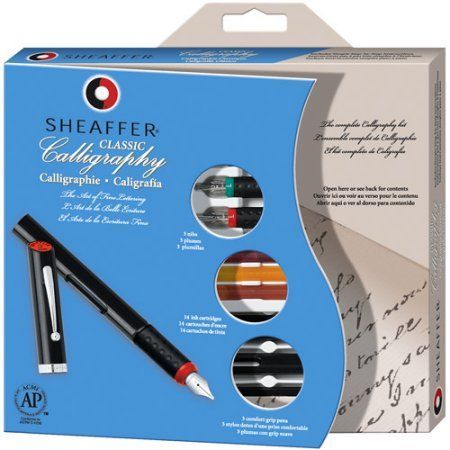 Sheaffer Calligraphy Pen Set, Maxi Kit, 4 Nibs, 1/Ea