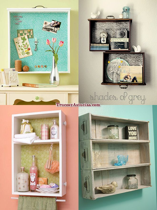 Don't throw away those old drawers. Paint them and use them...