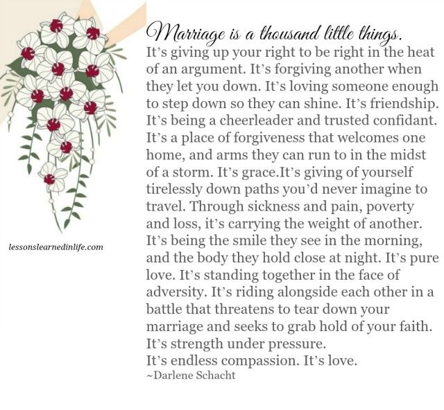 Lessons Learned in Life | Marriage, it's so many things.