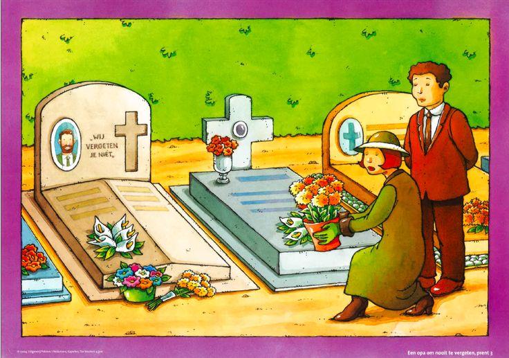 Rouwen: afbeelding op het kerkhof
