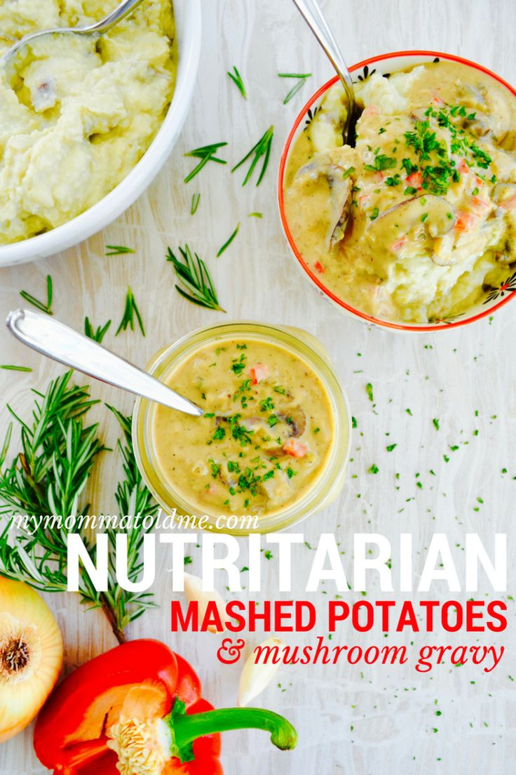 Wondering what to make for Thanksgiving when you're on Dr. Fuhrman's Eat to Live plan?  Check out these nutritarian approved holiday classics: mashed potatoes and mushroom gravy!  Vegan, no oil and low sodium, they are so creamy and decadent without the dairy!  Check out the secret ingredient...