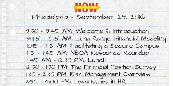 Last chance to sign up for Business Office NOW Philadelphia, NBOA's 1-day workshop for Independent School Business Officers and Business Operations Staff #Philly #isedchat